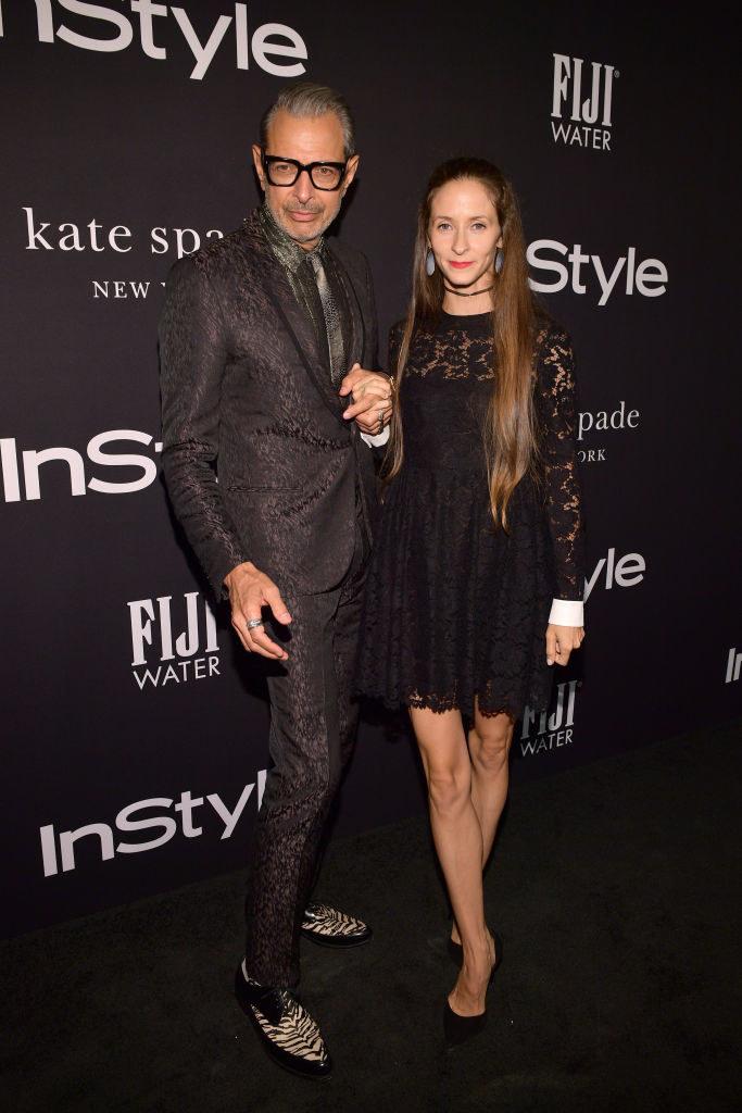 Photo of Jeff Goldblum and Emilie Livingston.