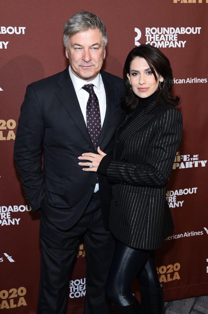 Photo of Alec Baldwin and Hilaria Baldwin.