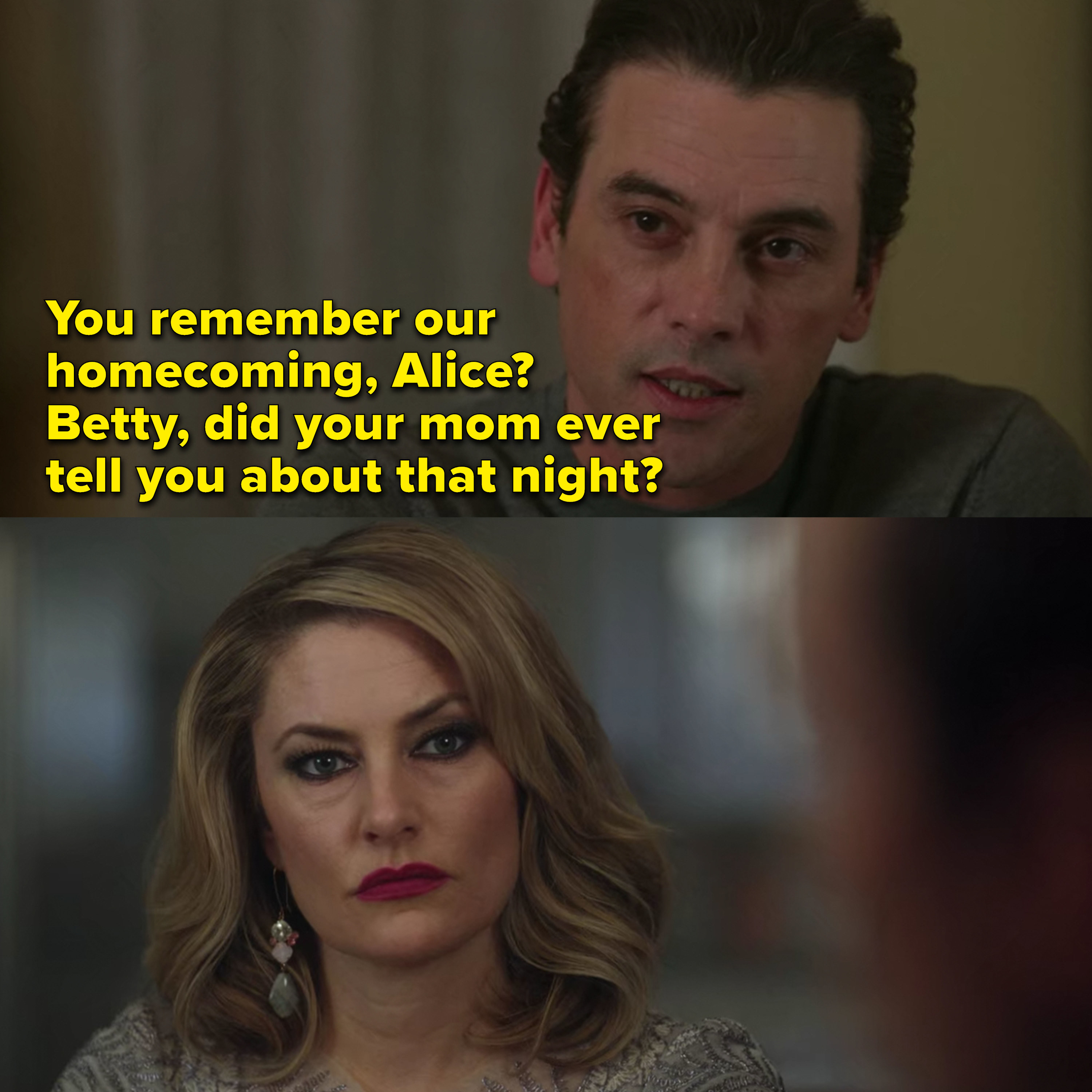F.P. taunts Alice about the night of their homecoming and hints to Betty that something happened between them