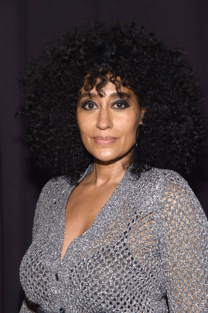 Tracee Ellis Ross poses at a Hollywood event