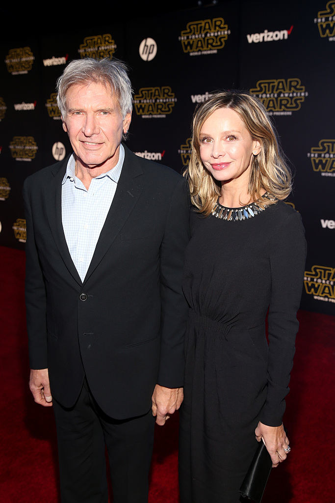 Photo of Harrison Ford and Calista Flockhart.