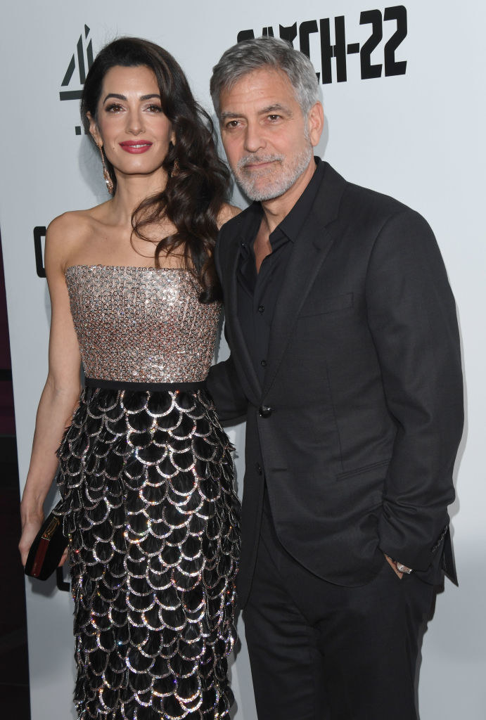 Photo of George Clooney and Amal Clooney.