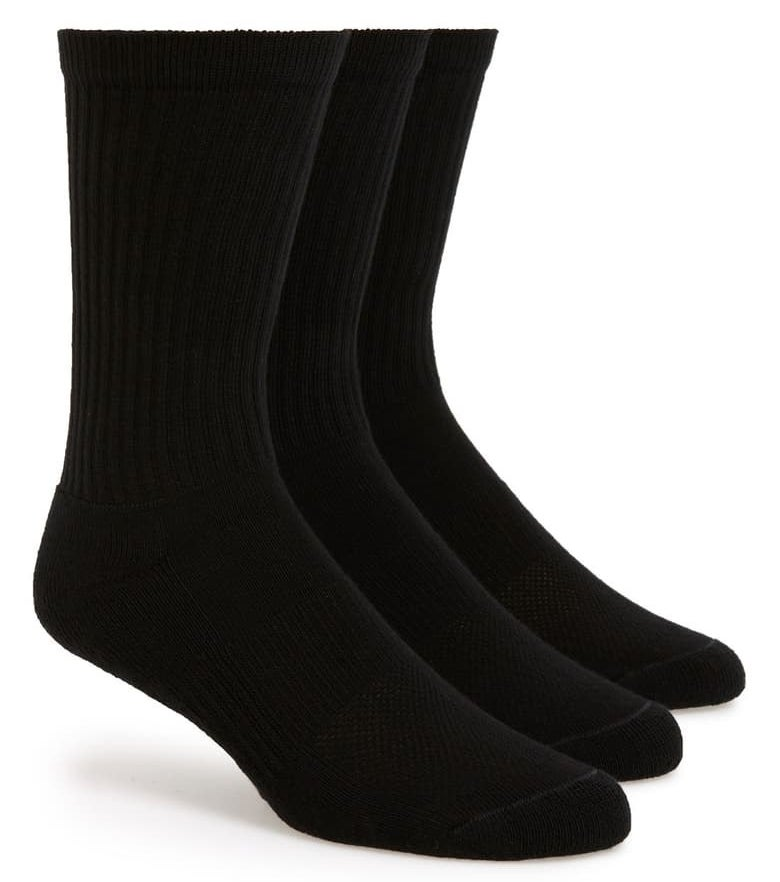 Product photo showing Nordstrom Men's athletic socks in black