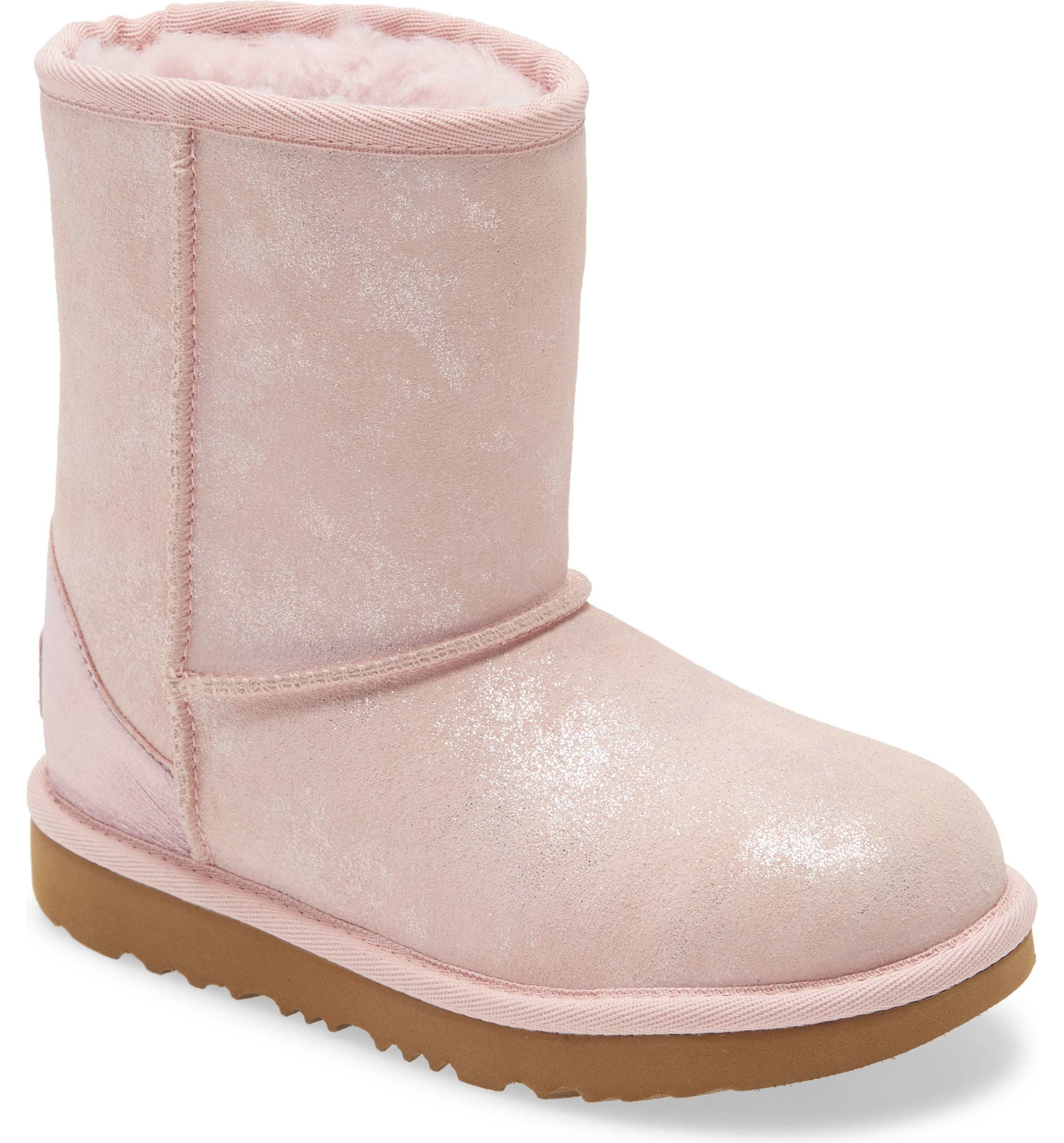 The pink uggs