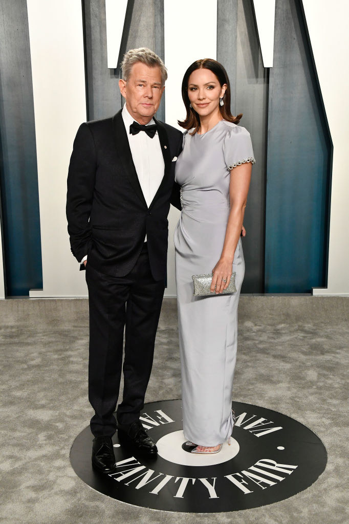 Photo of David Foster and Katharine McPhee.