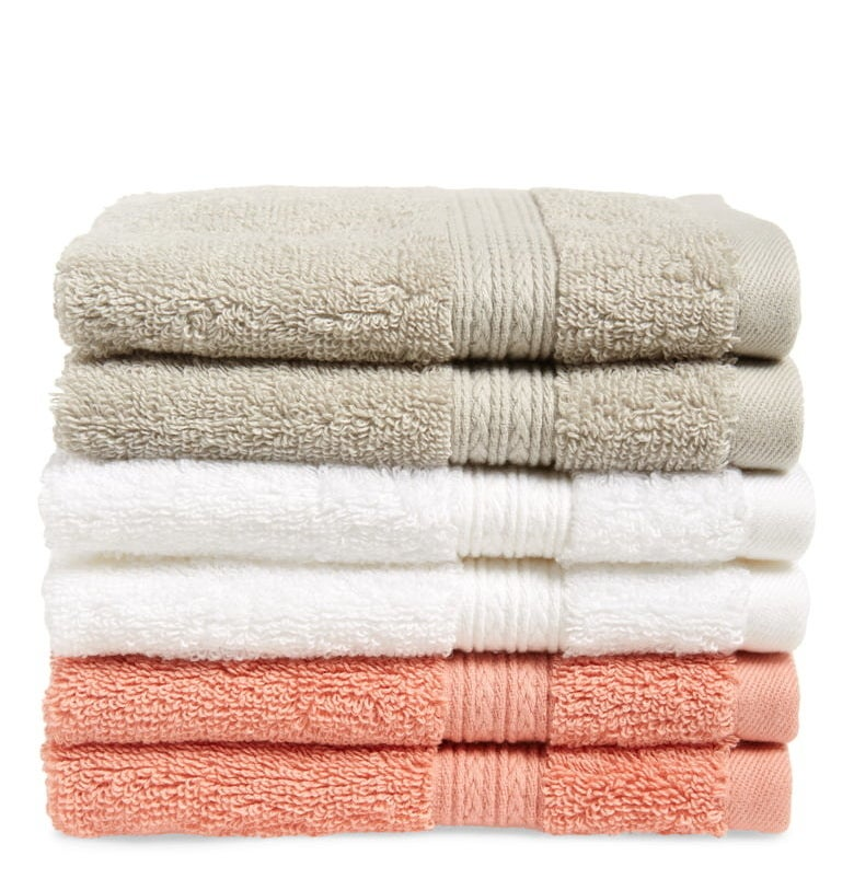 The 6-Pack Cotton Washcloth Set from BP