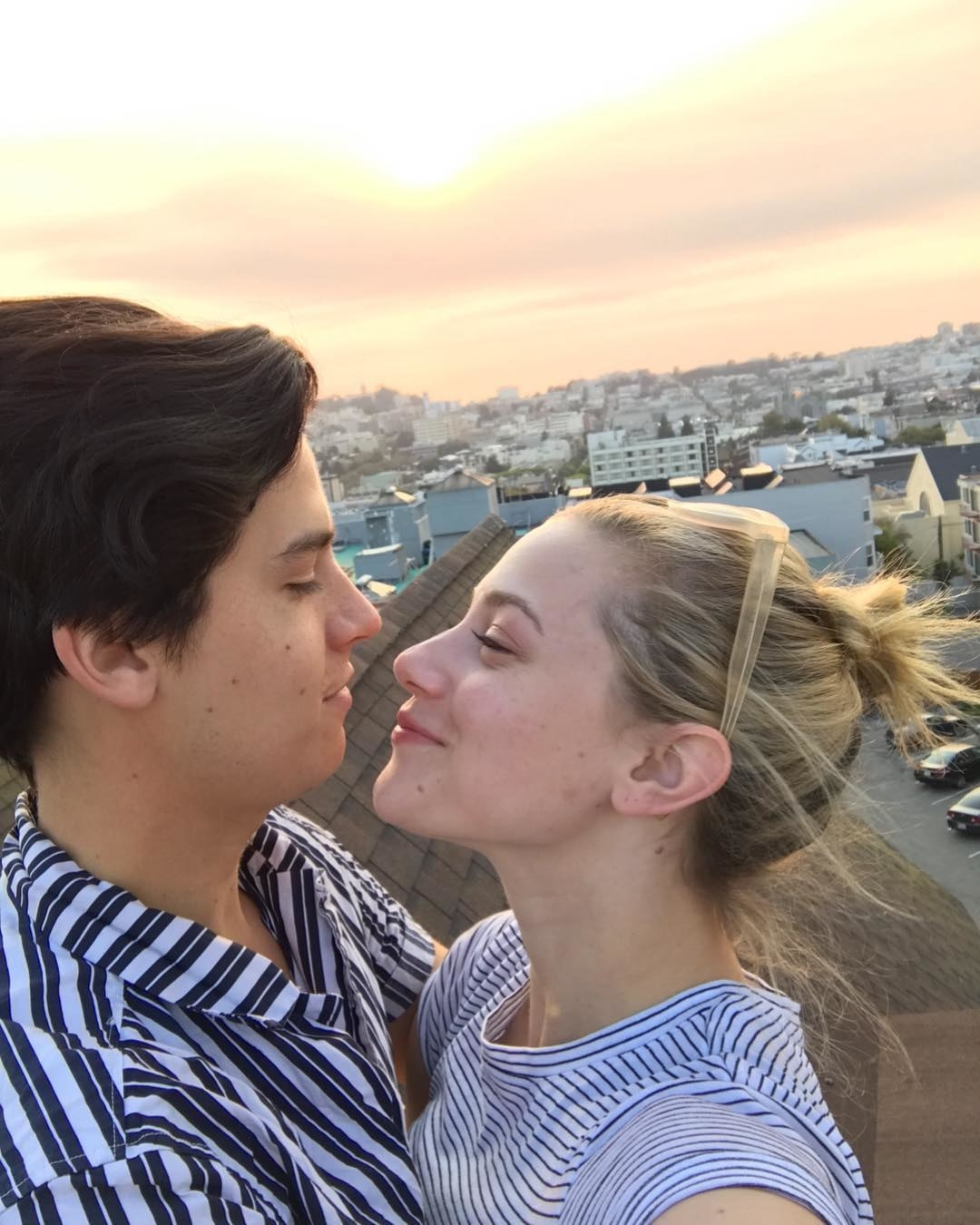 Cole Sprouse and Lili Reinhart stare lovingly into each other's eyes
