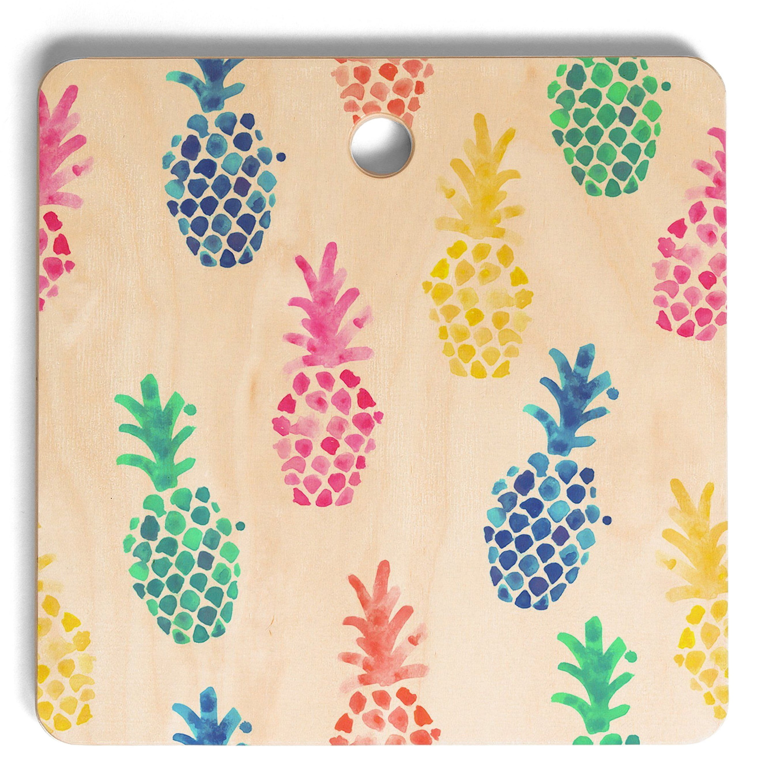 The Deny Designs Dash and Ash Pineapple Cutting Board