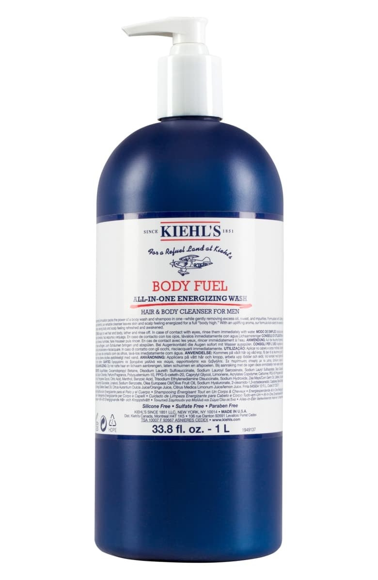 The Jumbo bottle of Kiehl's Body Fuel All-in-One Energizing Wash