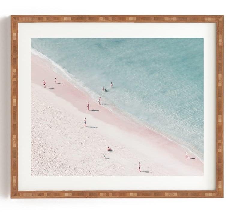 "The Deny Designs Ingrid Beddoes ""Beach Summer of Love"" Framed Wall Art"