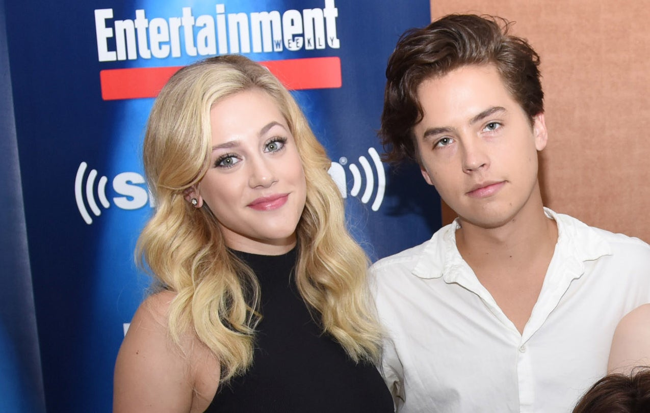 Lili Reinhart and Cole Sprouse pictured together during a cast interview