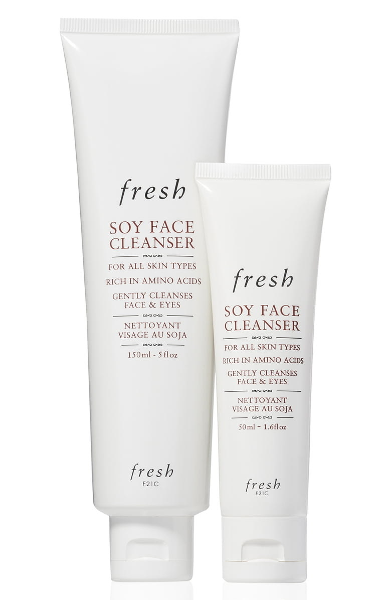 The Soy Face Cleanser Home & Away Set from fresh