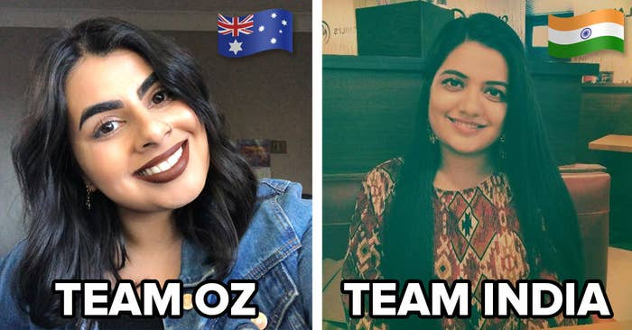 BuzzFeeders Isha and Sumedha, from Australia and India, respectively