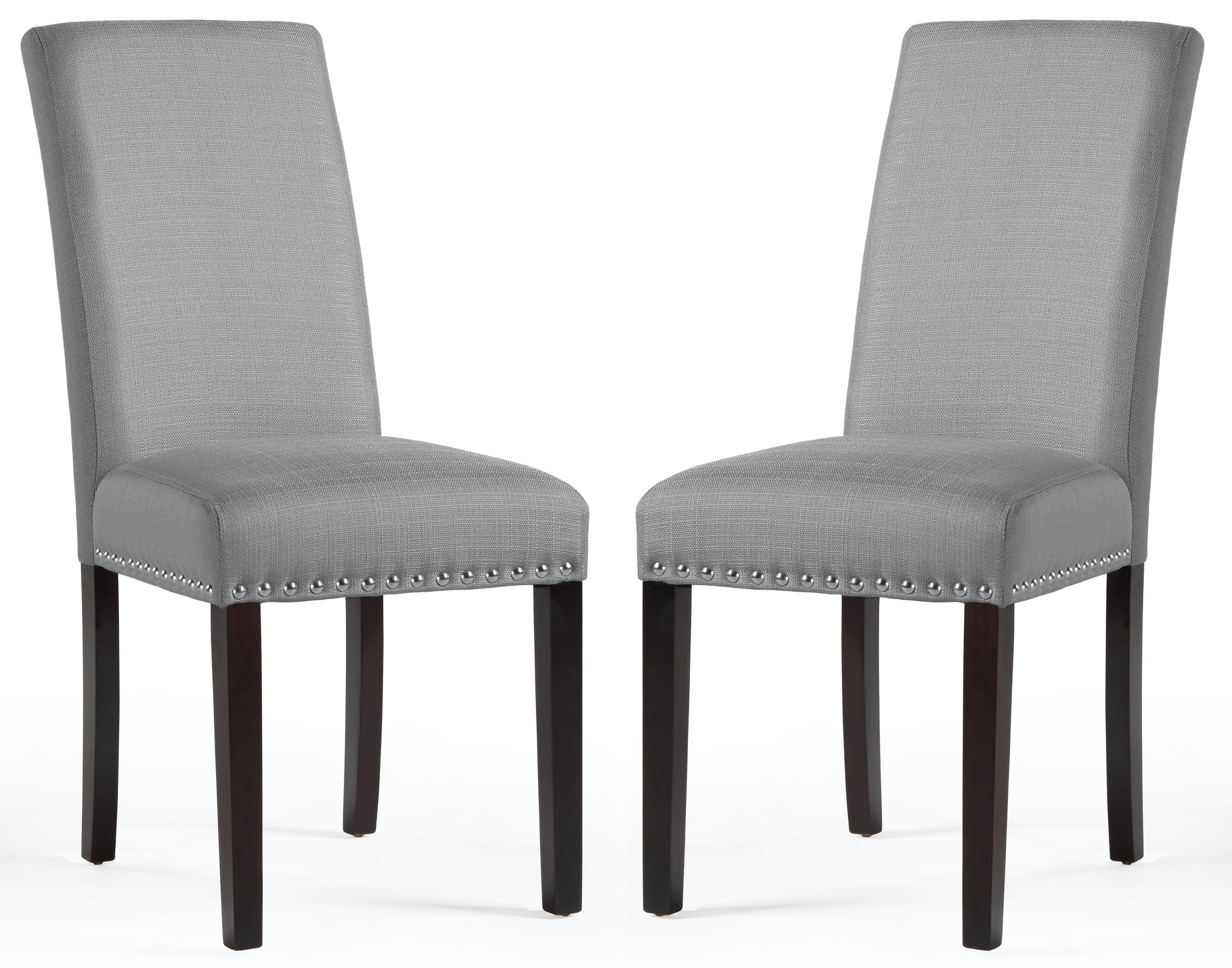 the chairs in grey with black legs