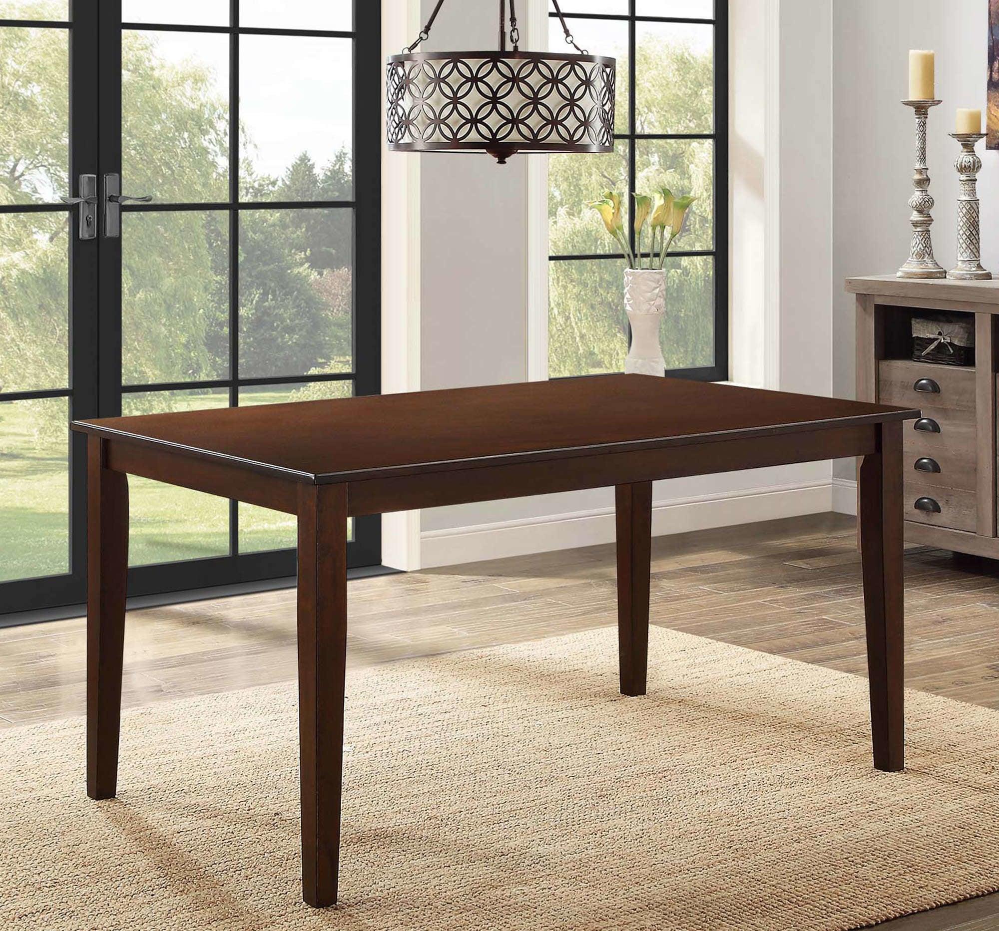 a dark brown table