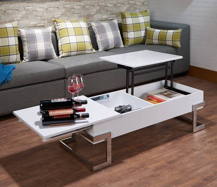 the coffee table that opens at the top