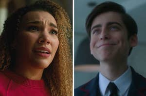 """Allison is on the left with Number 5 from """"Umbrella Academy"""" on the right"""