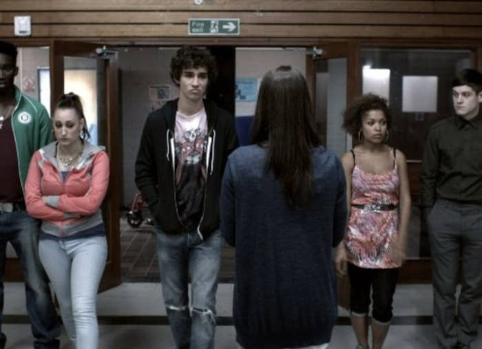A screenshot from the show Misfits.