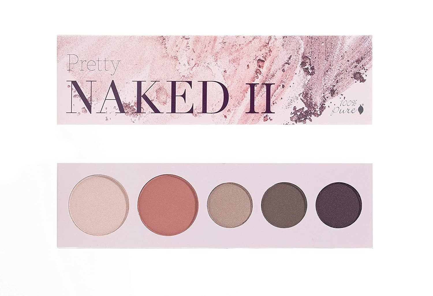 the pretty naked II palette with five different shades