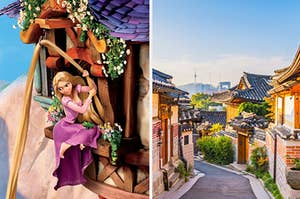 Rapunzel and Seoul, Korea.