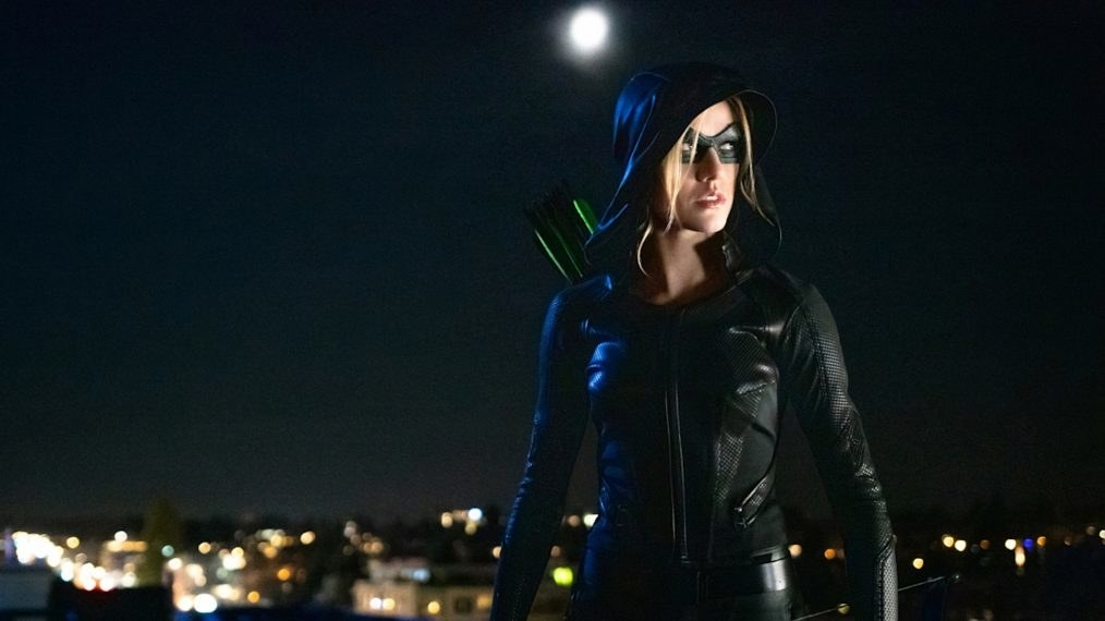 Mia in her Green Arrow superhero suit