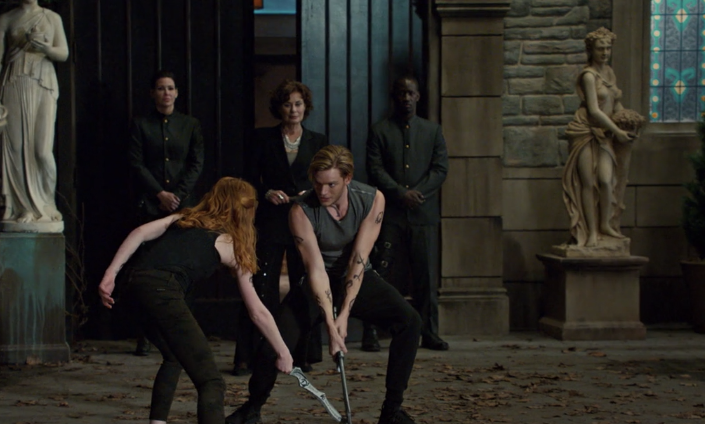 Clary and Jace fighting