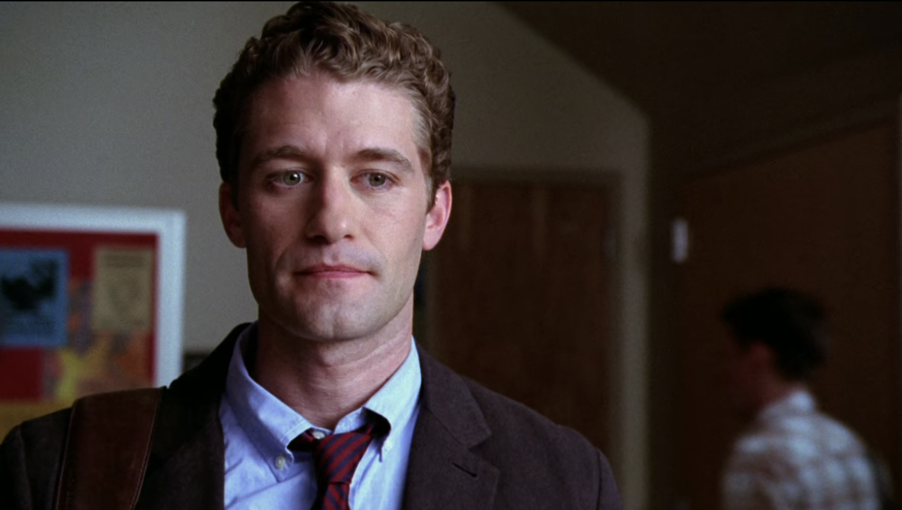 Mr. Schue staring at the wall