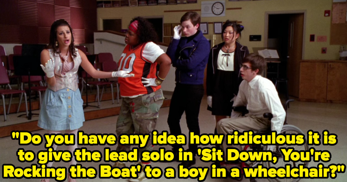 Rachel saying the lead solo should not be given to a boy in a wheelchair