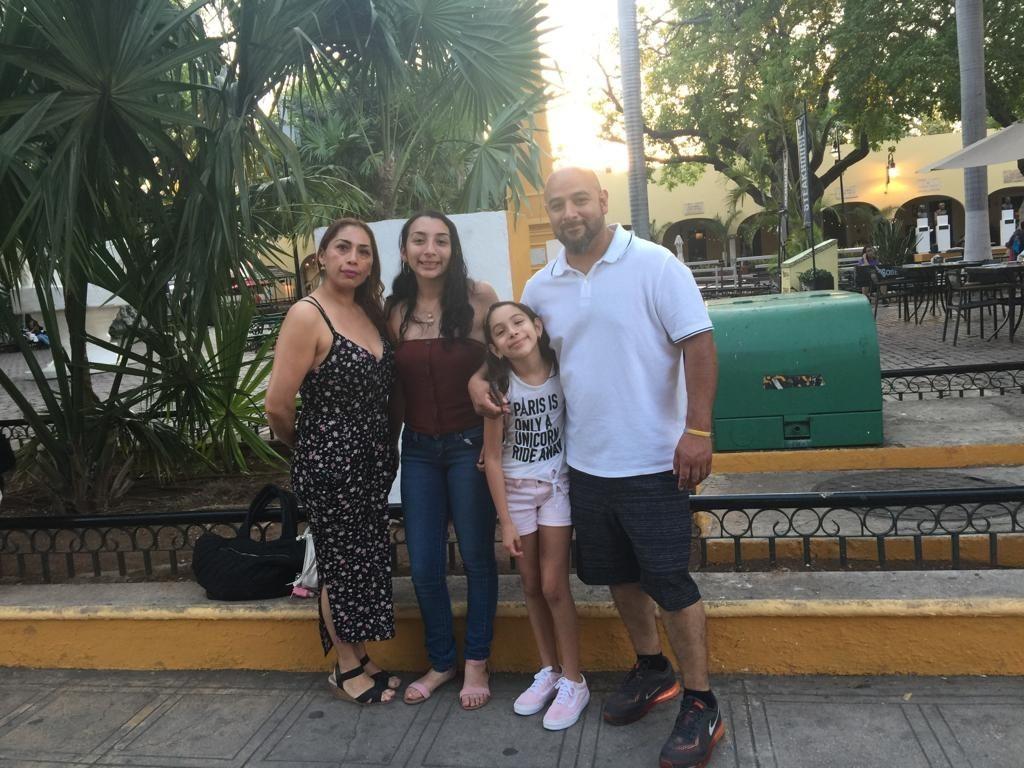 A photo of the Juarez family