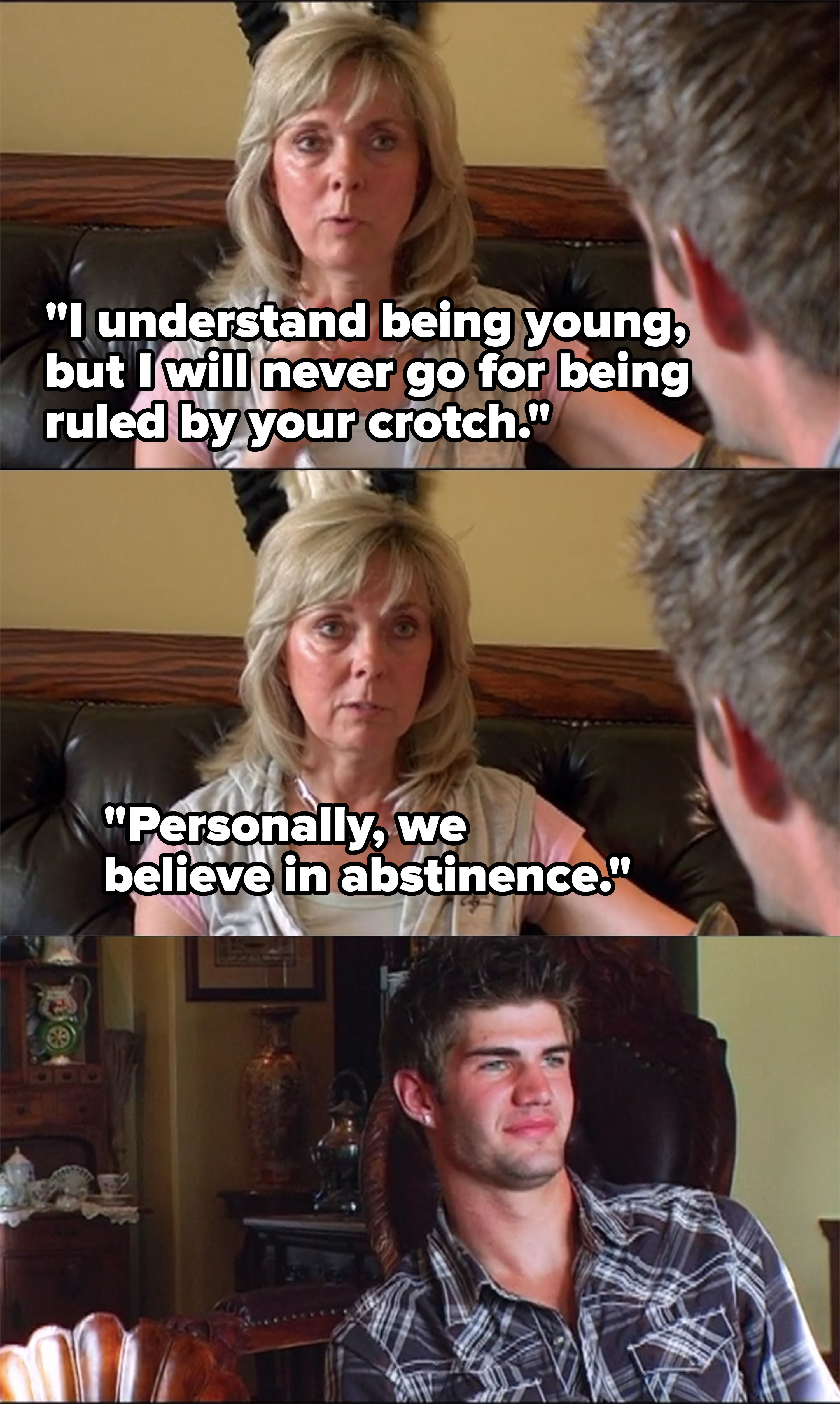 """Farrah's mom tells Cole she """"won't go for being ruled by your crotch"""" and says they believe in abstinence"""