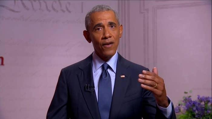 Barack Obama speaks at the DNC