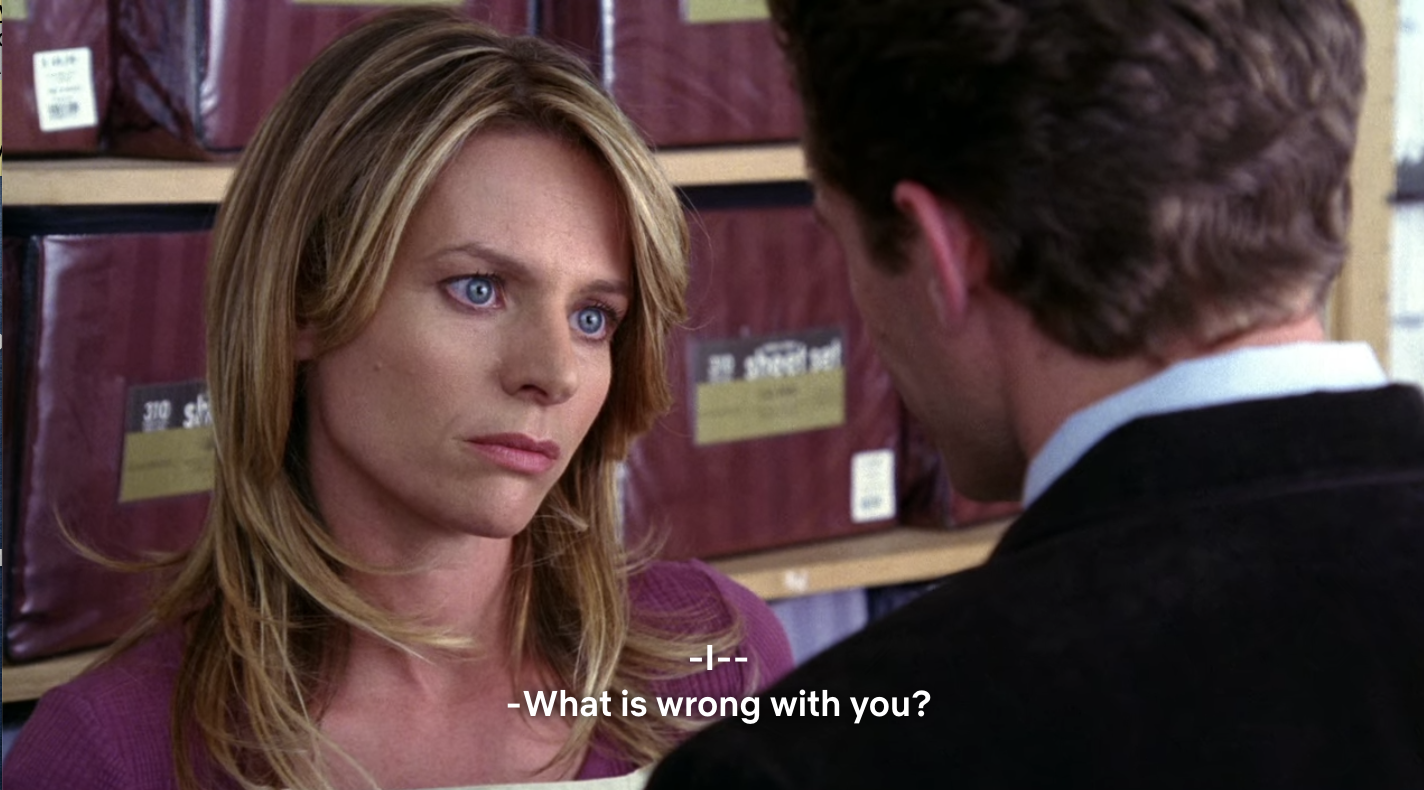 Mrs. Schue asking what is wrong with her husband.
