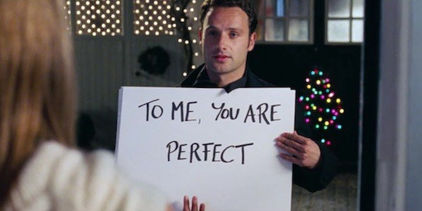 Sign scene from Love Actually