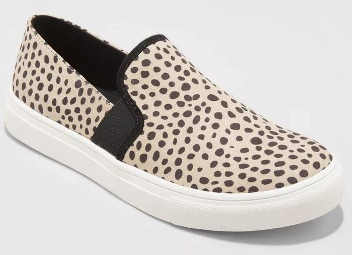 The shoe in brown leopard print