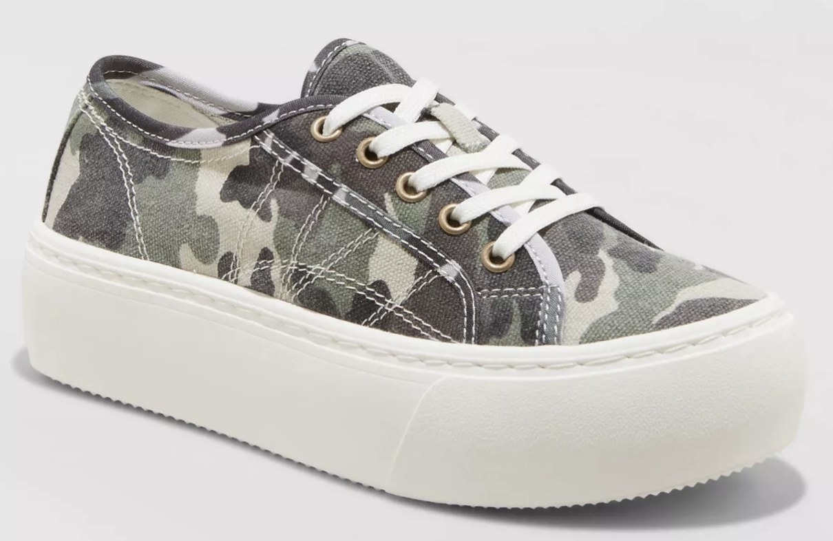 The shoe in camo