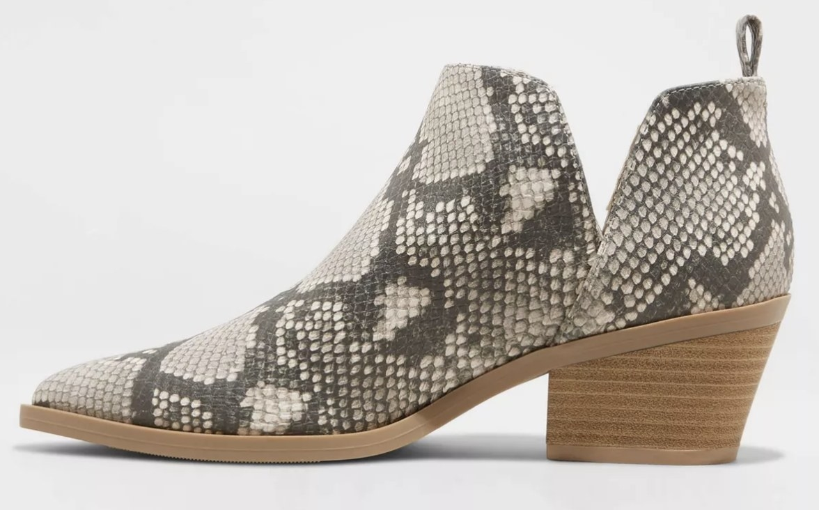 The boot in snake print