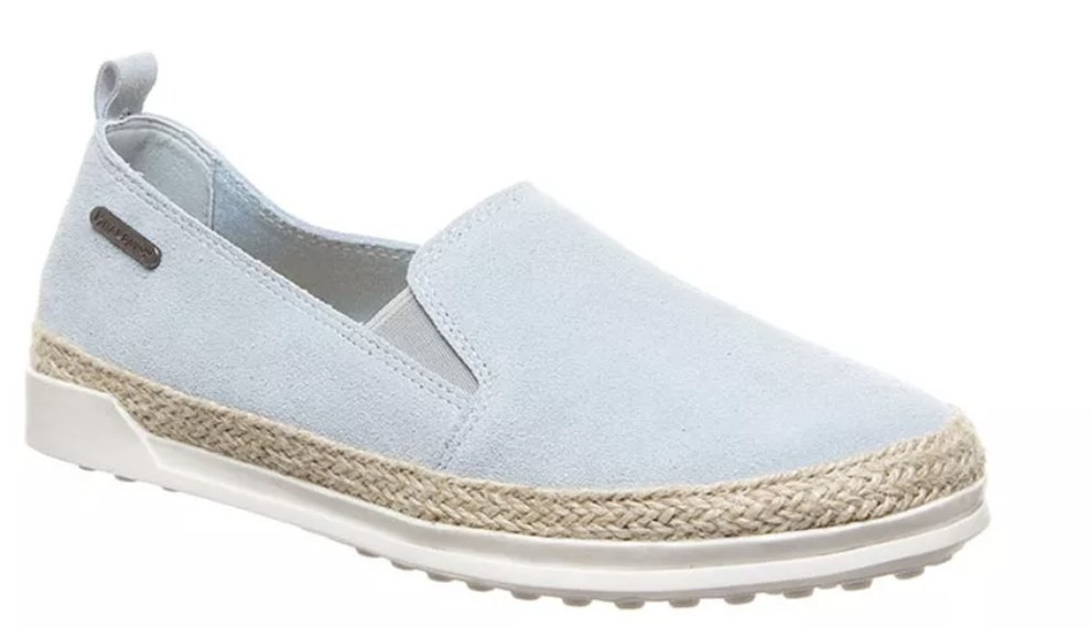 The shoe in powder blue