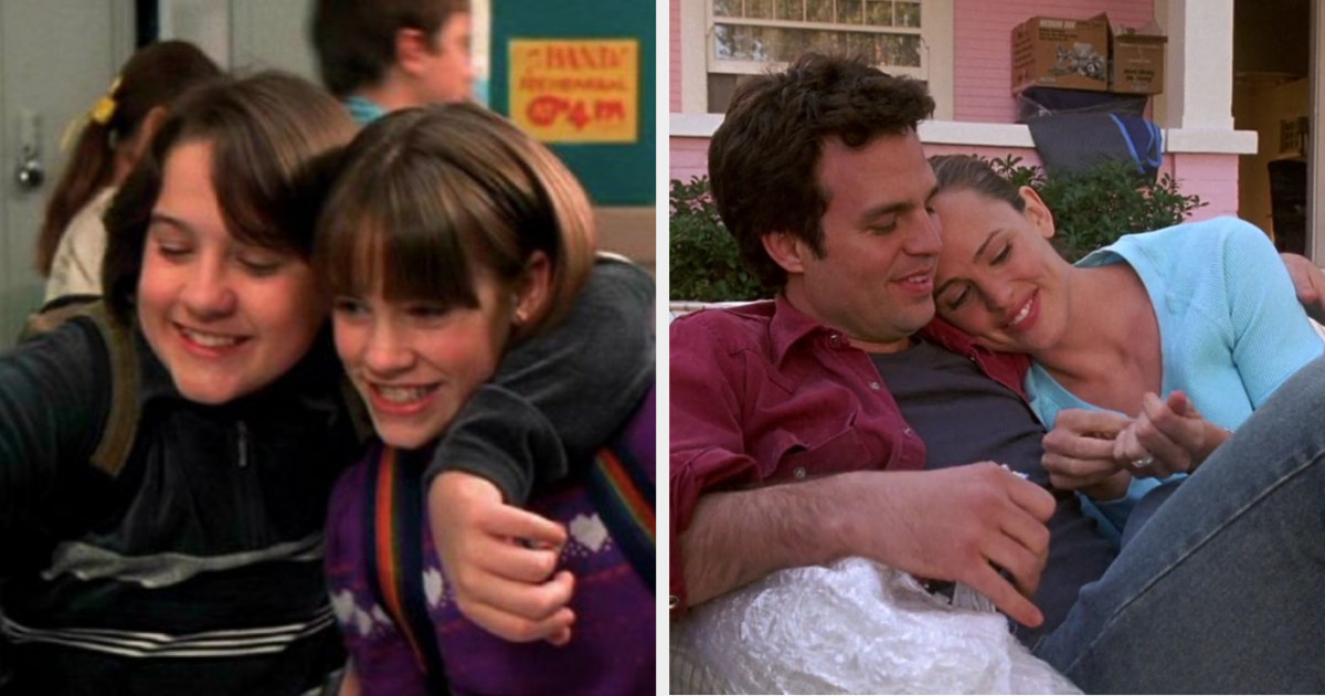 Jenna and Matt as kids and adults in 13 Going on 30