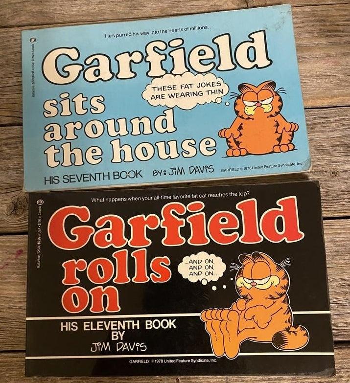 Two Garfield books.
