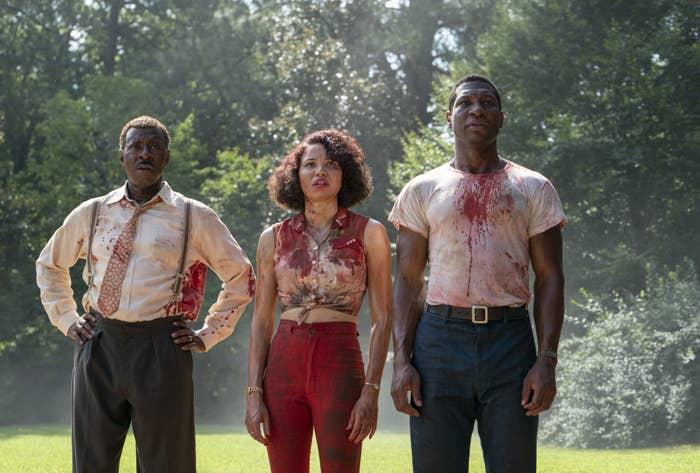 "Courtney B Vance, Jonathan Majors, and Jurnee Smollett in ""Lovecraft Country"""