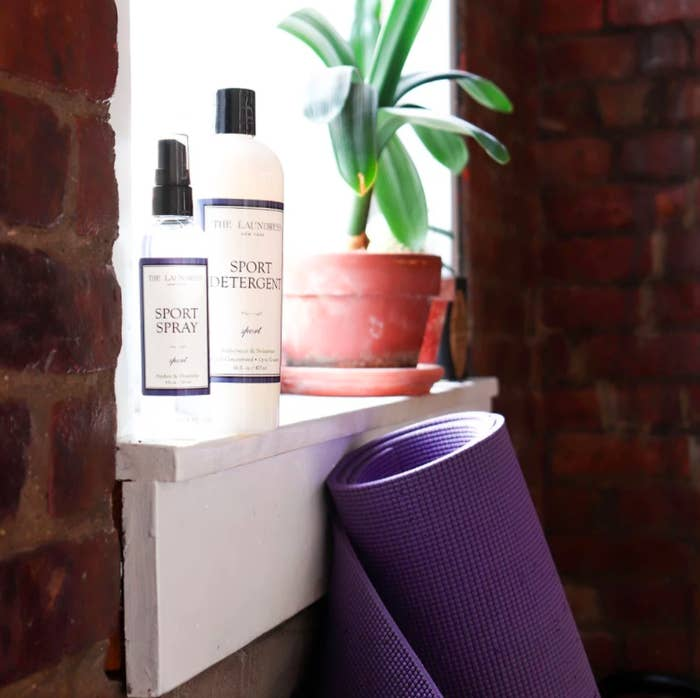 Laundress Sport Spray and Sport Detergent on window sill