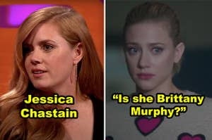 Side-by-side of Amy Adams and Lili Reinhart in