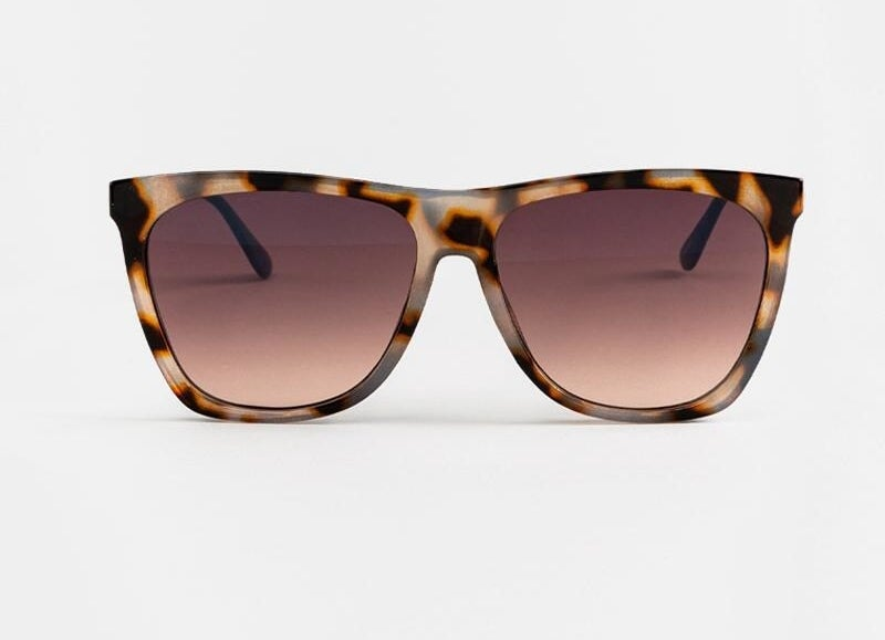 the sunglasses with a tortoise shell pattern