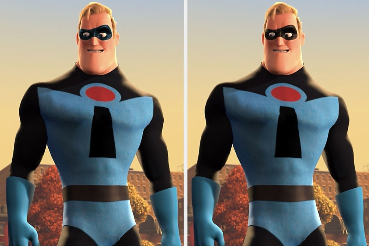 """Mr. Incredible from """"The Incredibles"""" in original blue suit"""