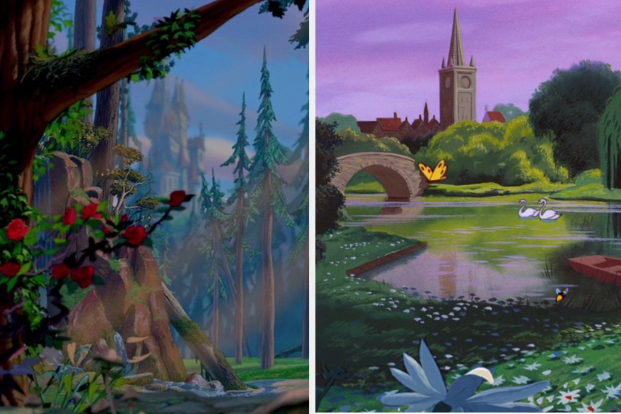 """Opening scene from """"Beauty and the Beast"""" and """"Alice in Wonderland"""""""