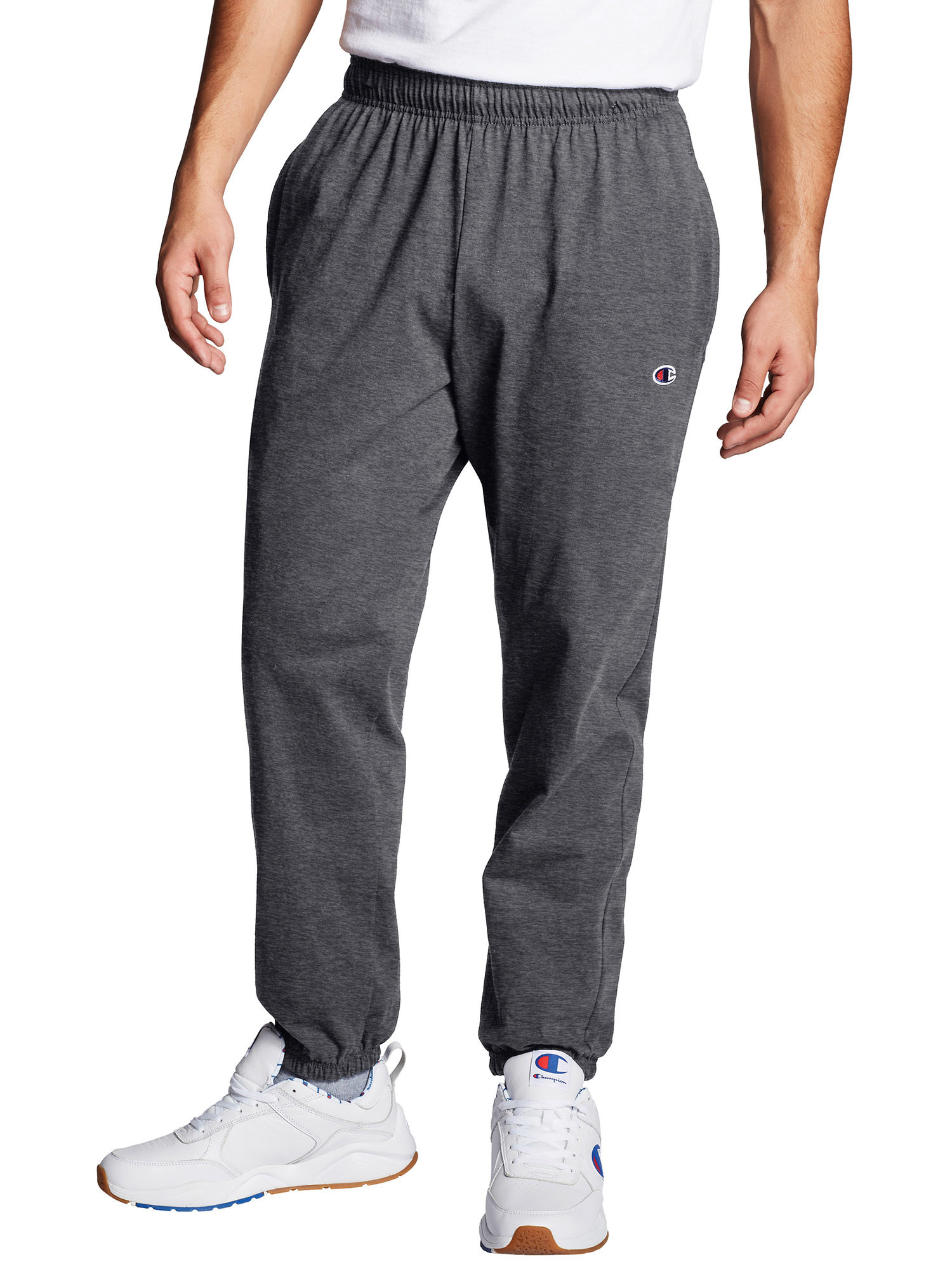 man wearing gray sweatpants
