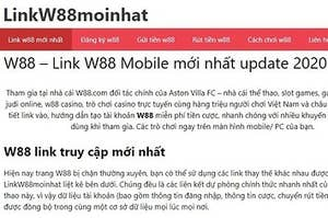 giới thiệu w88 linkw88moinhat