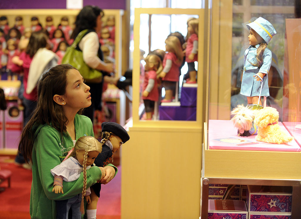 A girl at an American Girl Doll store in Colorado