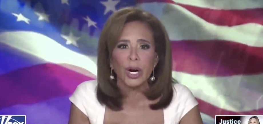"""Jeanine saying, """"Unlike you, Joe, Donald Trump made his own money and he hasn't asked the government for it and he doesn't cut deals while he's in the government for his son and his family."""""""