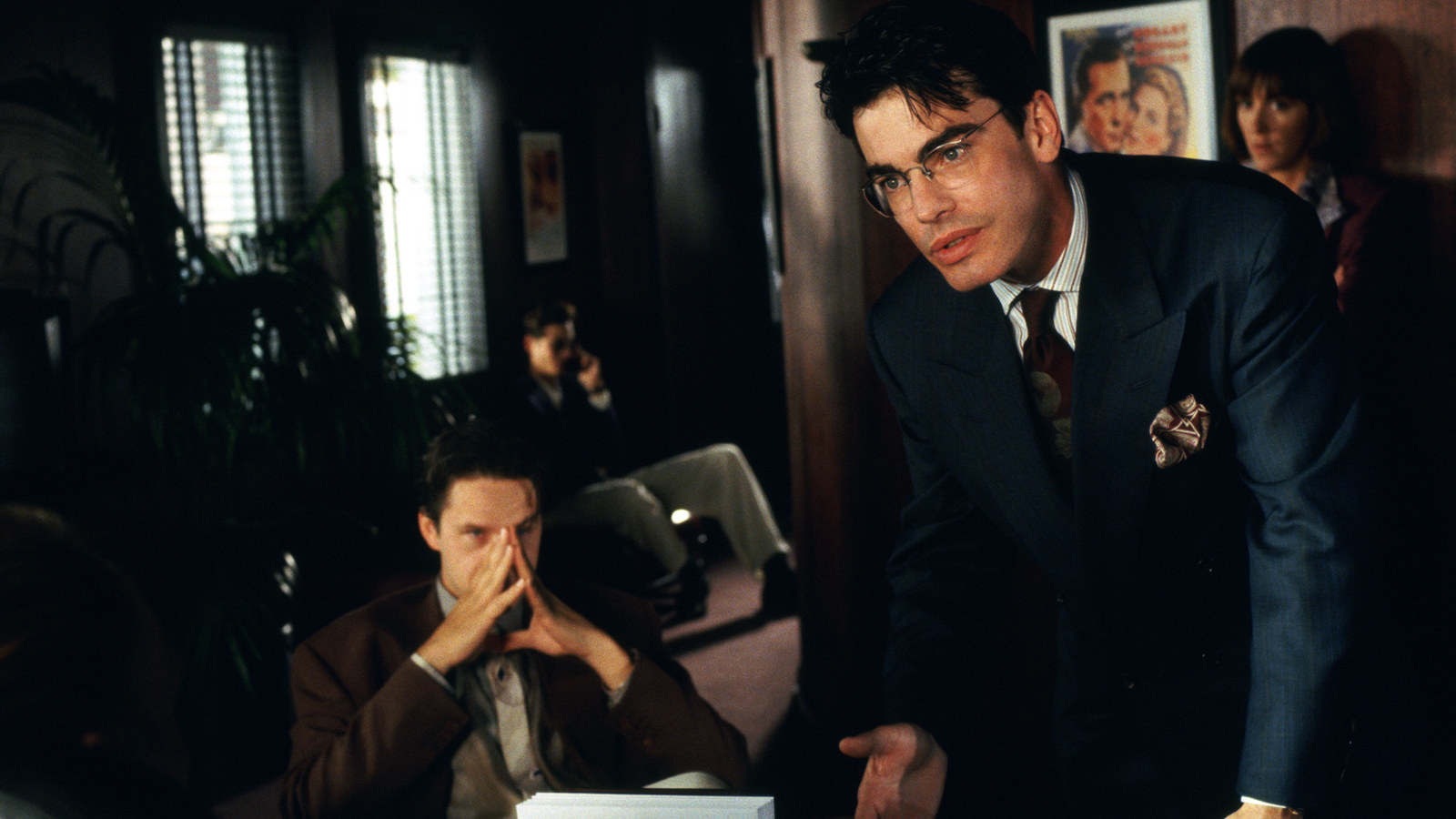 Tim Robbins and Peter Gallagher Jr. in The Player (film)